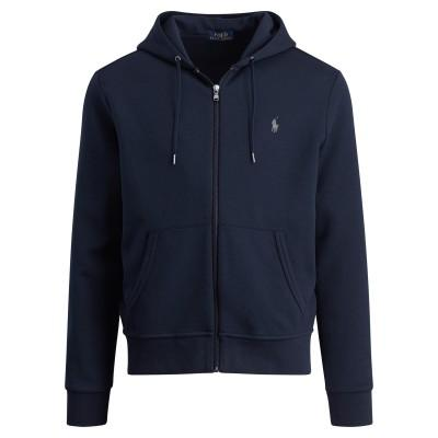 Polo Ralph Lauren Double-Knitted Full-Zip Hoodie Grey Heather