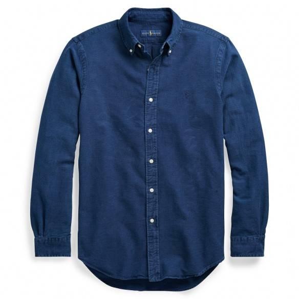 Polo Ralph Lauren Camisa Oxford Slim Fit Indigo Blue