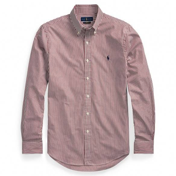 Polo Ralph Lauren Slim Fit Striped Shirt Red