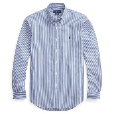 Polo Ralph Lauren Camisa Slim Fit Striped Blue