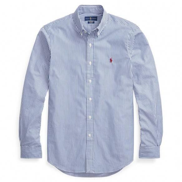 Polo Ralph Lauren Camisa Slim Fit Striped Blue