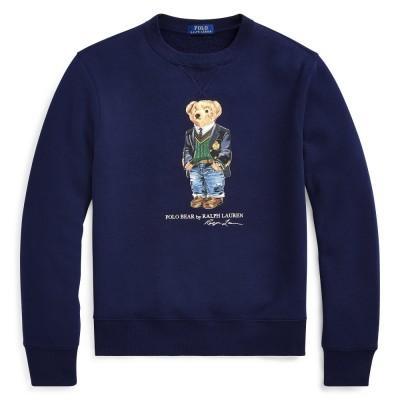 Polo Ralph Lauren Preppy Bear Fleece Sweatshirt Navy