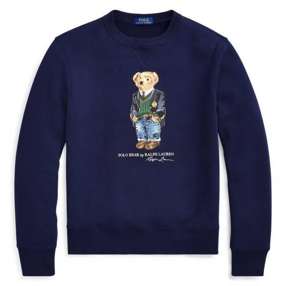 Polo Ralph Lauren Preppy Bear Fleece Sweatshirt Navy