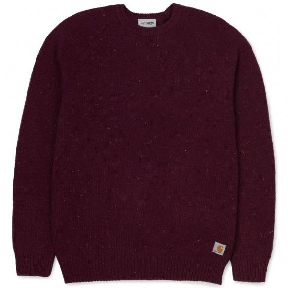 Carhartt Anglistic Sweater Merlot Heather