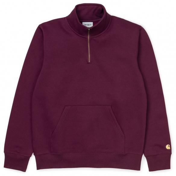Carhartt Chase Neck Zip Sweat Merlot