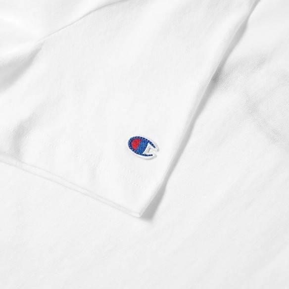 Champion Reverse Weave Script Logo T-Shirt White
