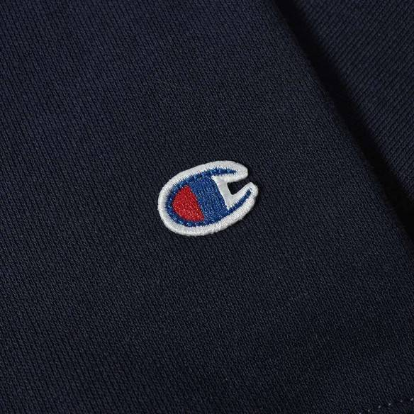 Champion Reverse Weave Small Script Crew Sweatshirt Dark Navy