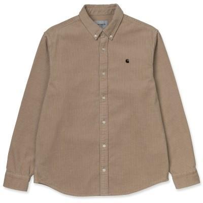 Carhartt Madison Cord Shirt Wall Black
