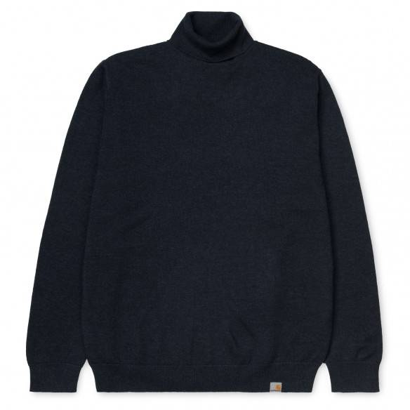 Carhartt Malha Gola Alta Playoff Dark Navy Heather