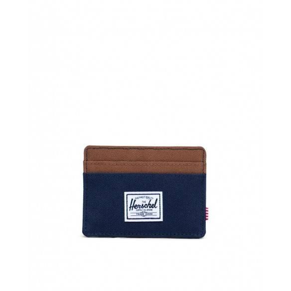 Herschel Charlie Wallet Peacoat Saddle Brown
