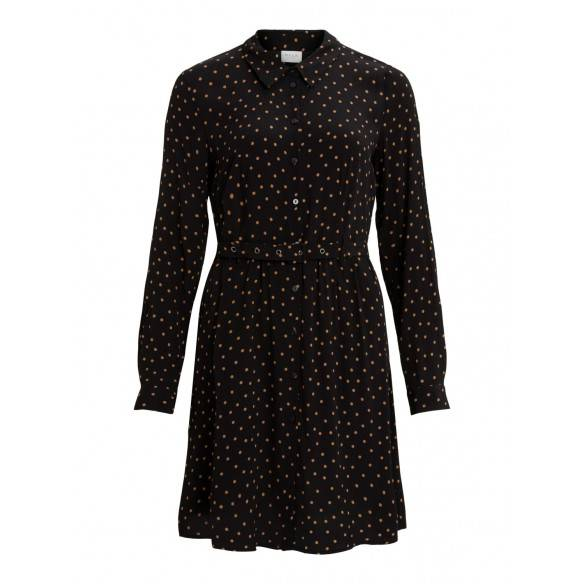 Vila Suela Dress Black Dots Tobac