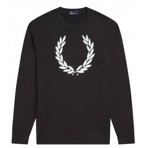Fred Perry Blurred Laurel Wreath T-shirt Black M6511 102