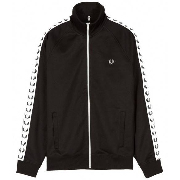 Fred Perry Black Training Jacket J6231 198