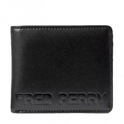 Fred Perry Carteira Embossed Billfold Black L7246-102