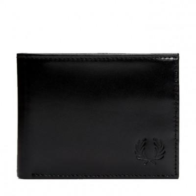 Fred Perry Carteira Contrast Leather Billfold Black L7218-102