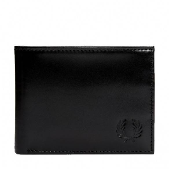 Fred Perry Contrast Leather Billfold Wallet Black L7218-102