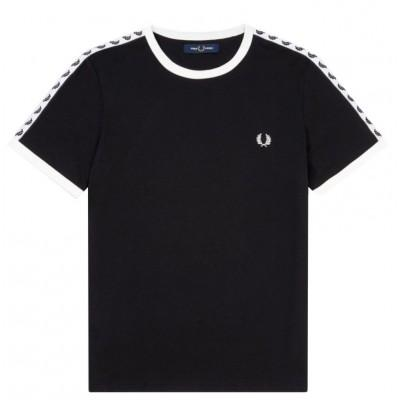 Fred Perry T-shirt Taped Ringer Black M6347-220