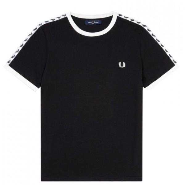 Fred Perry Taped Ringer Black T-shirt M6347-220