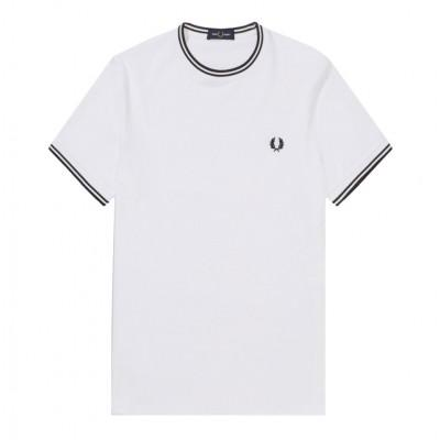 Fred Perry T-shirt Twin Tipped White M1588-100