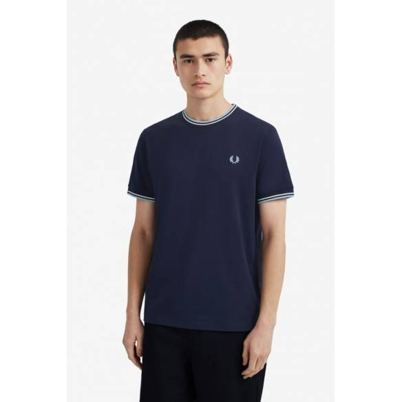 Fred Perry  Twin Tipped T-shirt W Carbon Blue M1588-584