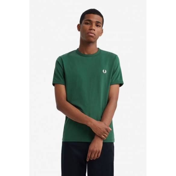 Fred Perry Ringer T-Shirt Ivy M3519-656