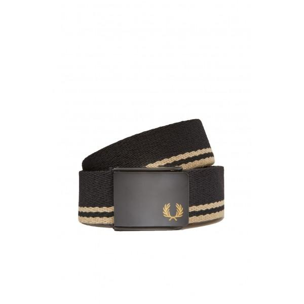 Fred Perry Cinto Tipped Webbing Black Champagne BT8431-157