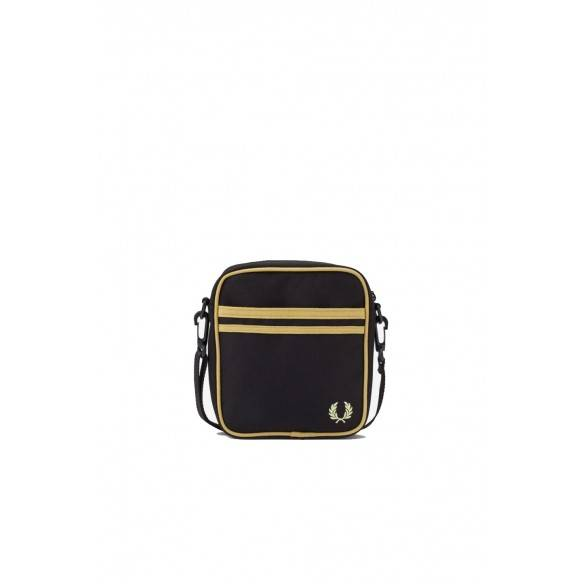 Fred Perry Twin Tipped Side Bag Black Champagne L8265-157
