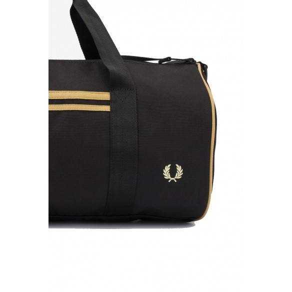 Fred Perry Twin Tipped Barrel Bag Black Champagne L8264-157