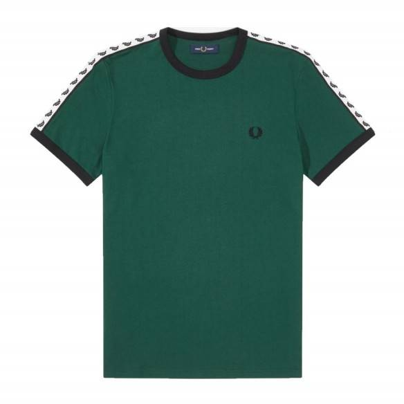 Fred Perry Taped Ringer T-Shirt Ivy M6347-406