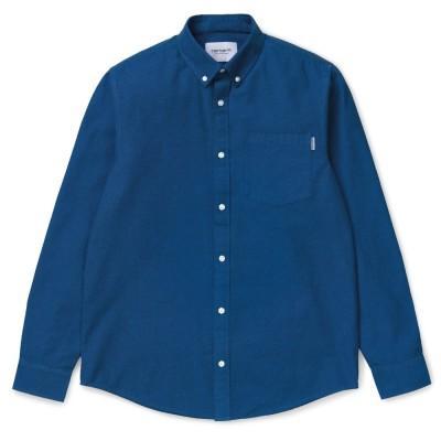 Carhartt Dalton Shirt Dark Navy Azzuro