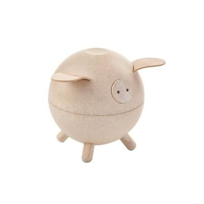 Plan Toys Piggy Bank White