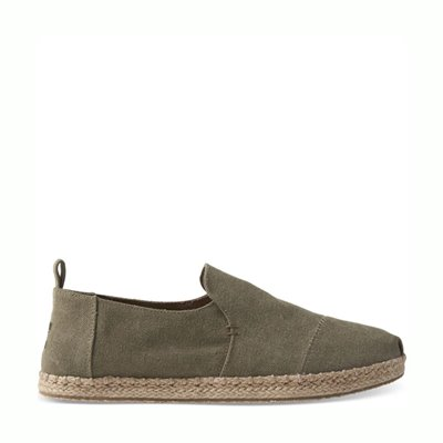 TOMS Deconstructed Rope Olive Washed Canvas
