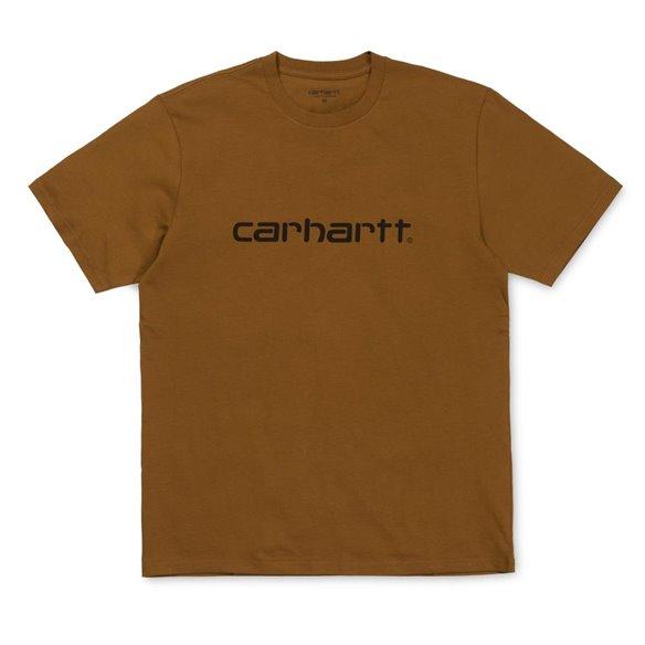Carhartt Script T-Shirt Hamilton Brown Black