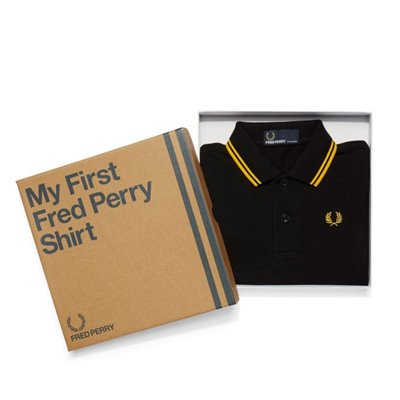My First Fred Perry Shirt Black