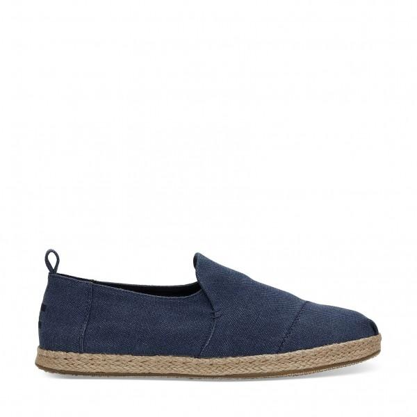 Toms Deconstructed Rope Navy Washed...