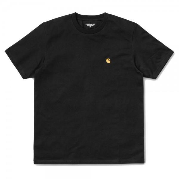 Carhartt Chase T-Shirt Black Gold
