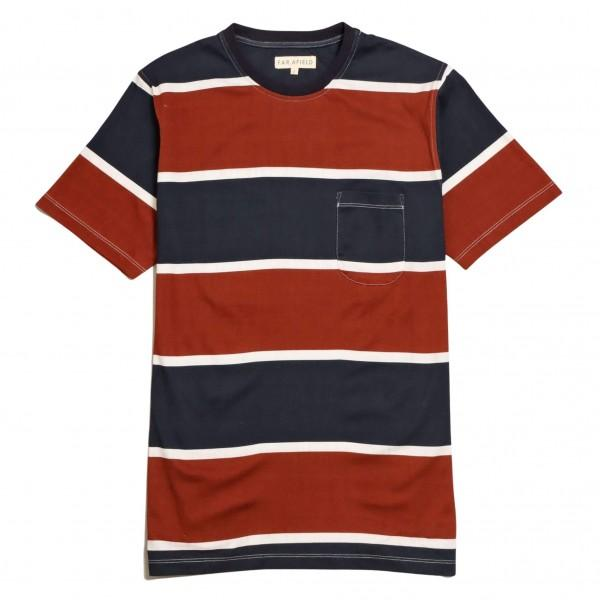 Far Afield T-Shirt Dos Stripe Navy...