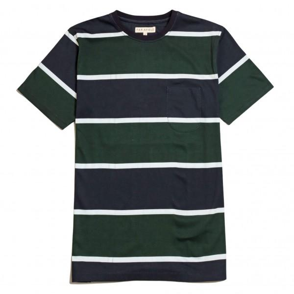 Far Afield T-Shirt Dos Stripe Navy Green