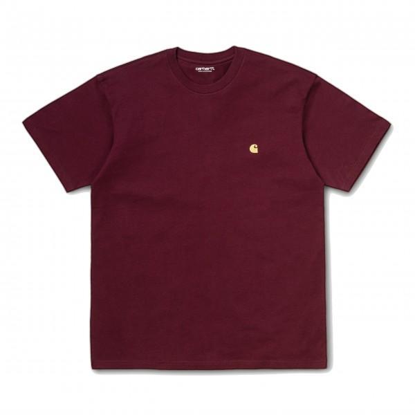 Carhartt T-Shirt Chase Bordeaux Gold