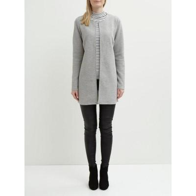 Vila Naja New Long Jacket Light Grey Melange