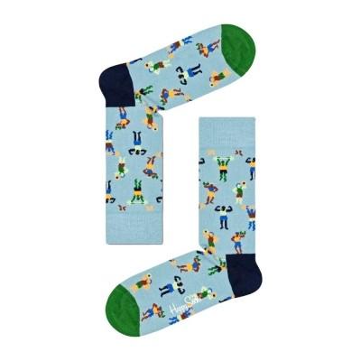 Happy Socks work it Meias azul
