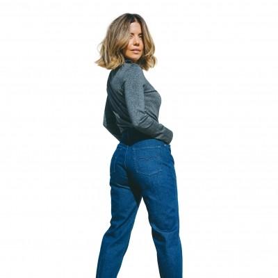 Aly John Mom Jeans IS Azul...